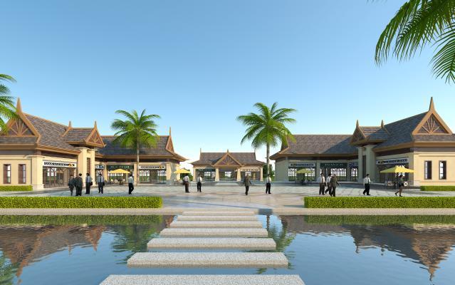 东南亚风情商业街