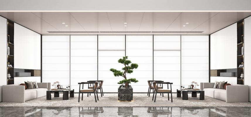 新中式酒店接待区