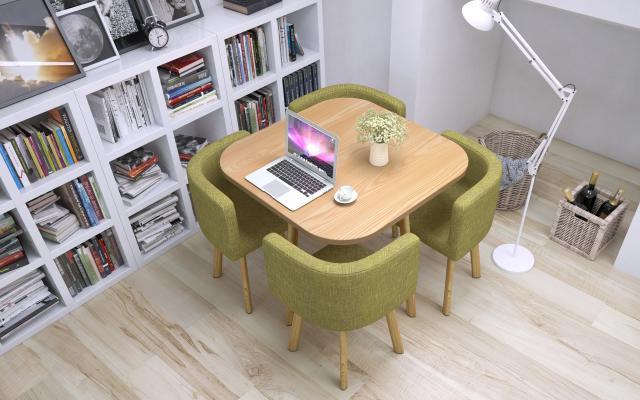 现代洽谈桌 办公休闲桌椅 三角椅