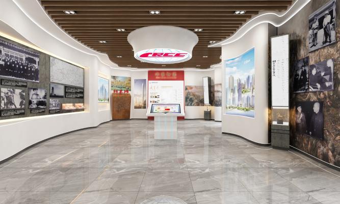 现代风格售楼处展厅