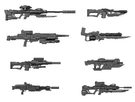 现代武器枪支 冲锋枪