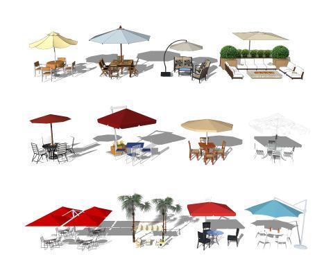 现代风格遮阳伞 户外遮阳伞 户外桌椅
