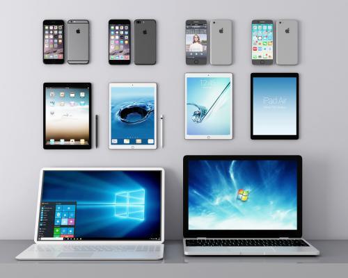 现代手机 平板 笔记本电脑