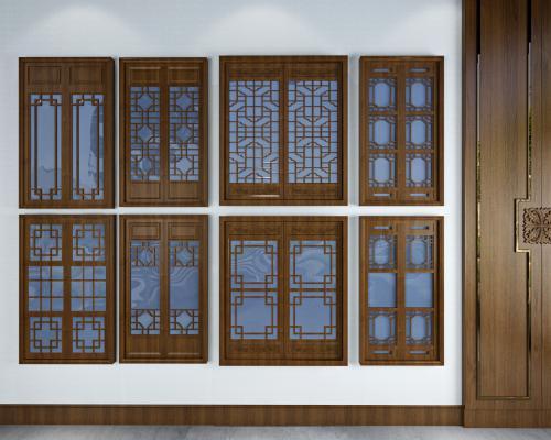 中式花格窗户 窗花