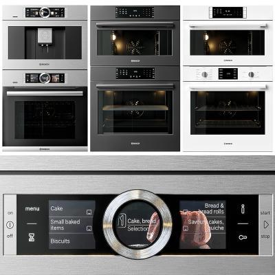 现代厨房电器 烤箱 咖啡机