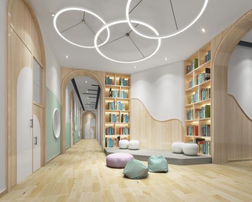 现代幼儿园通道 阅览室 活动区