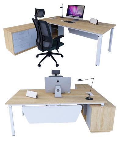现代办公桌 办公桌 办公椅