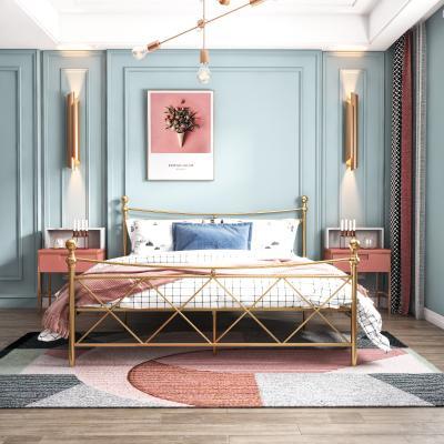 现代简约卧室 铁床
