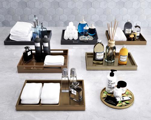 现代卫浴 托盘摆件 卫浴摆件 洗涤用品