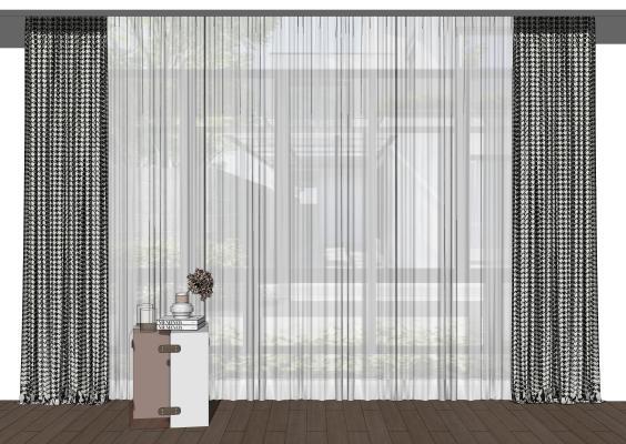 现代家居窗帘 条纹窗帘
