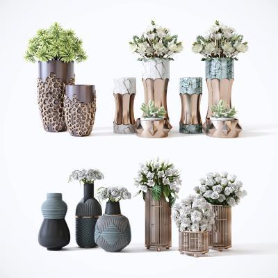 现代轻奢植物盆栽装饰摆件