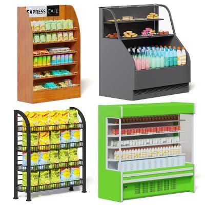 现代冰箱冰柜 货架 冷鲜柜 饮料柜