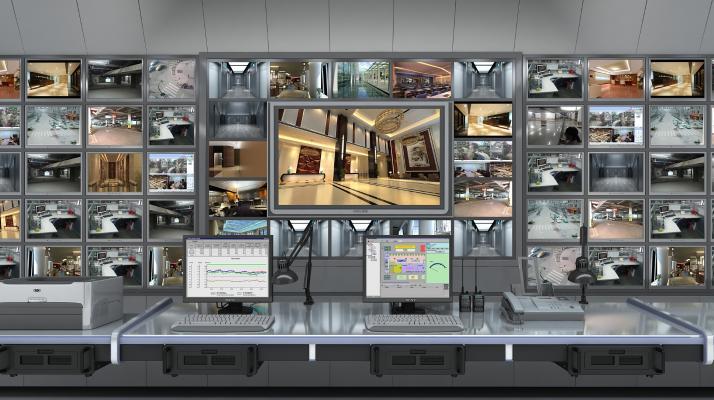 现代室内监控台