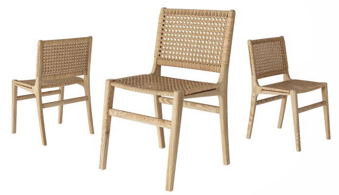 现代藤编餐椅 单椅