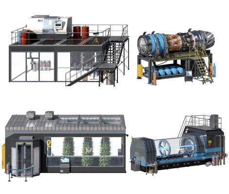 现代温室 无尘室 飞机发动机