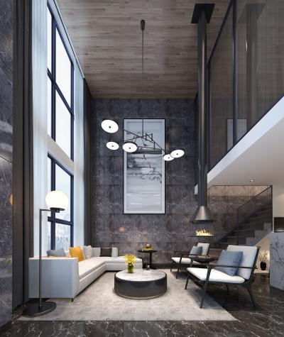 现代loft客厅