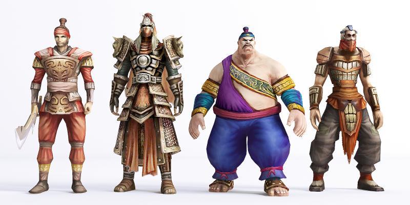 新中式虚拟人物 山贼 士兵