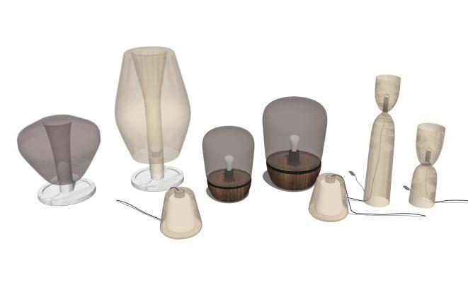 现代台灯摆件组合