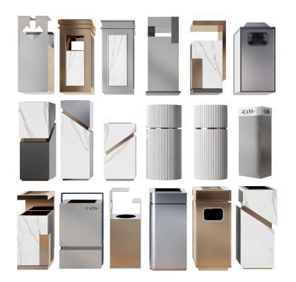 现代垃圾桶 垃圾箱