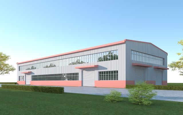 现代工业厂房 钢结构彩钢板生产车间