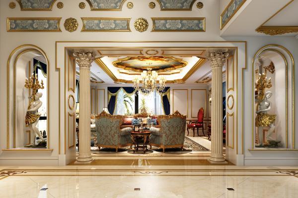 法式奢华客厅