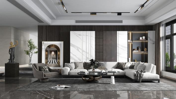現代簡約風格客廳
