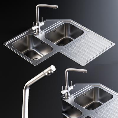 现代厨房水槽
