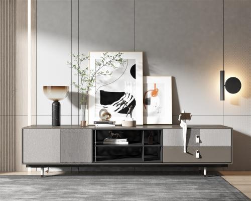 現代電視柜 裝飾畫 飾品擺件