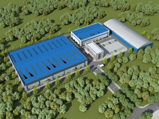 现代工业园 工厂 门头