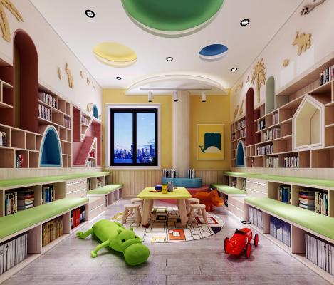 现代幼儿园图书室