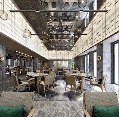 新中式餐饮大厅