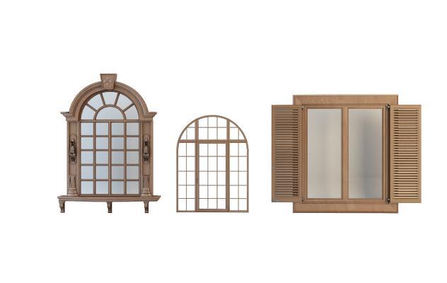 欧式窗户组合