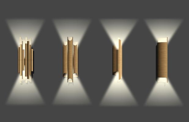 现代金属壁灯组合