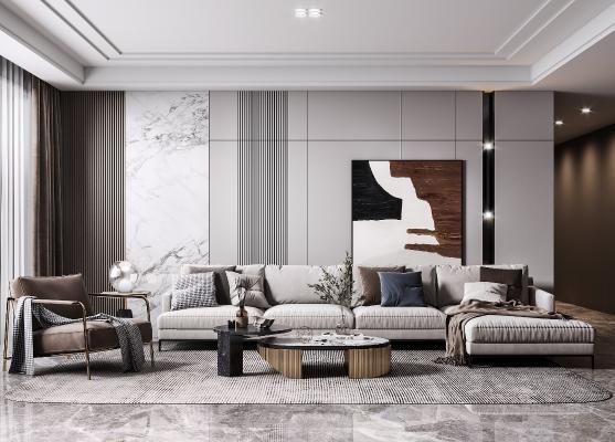 现代客厅 沙发组合