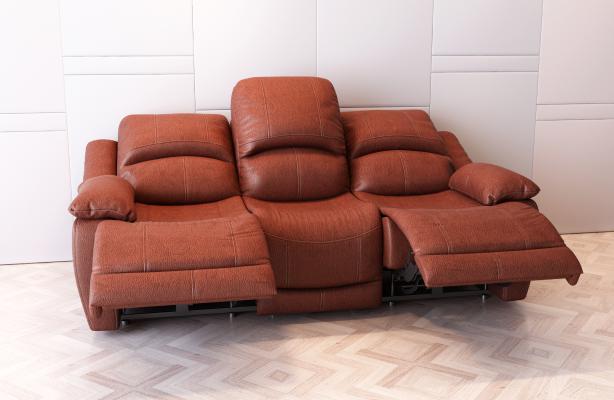 现代皮质沙发