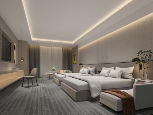 現代酒店客房