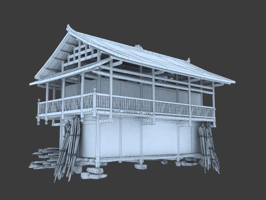 中式古建筑 老房子