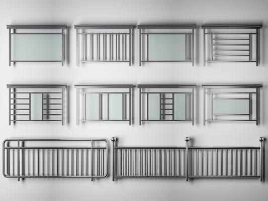 现代别墅不锈钢栏杆