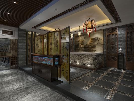 中式酒店大堂