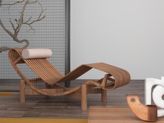 中式条形躺椅