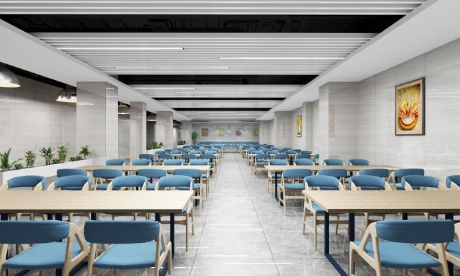 工业风格地下餐厅 餐座椅
