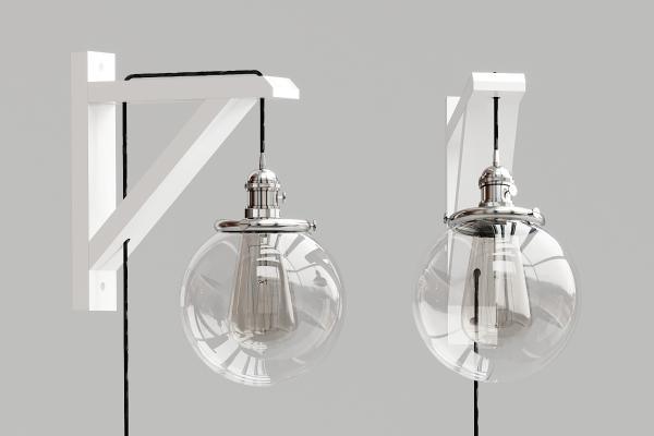 工业风玻璃球壁灯