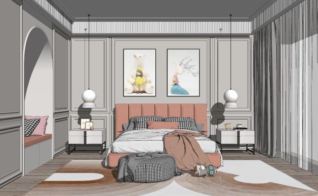 现代轻奢卧室 床具组合