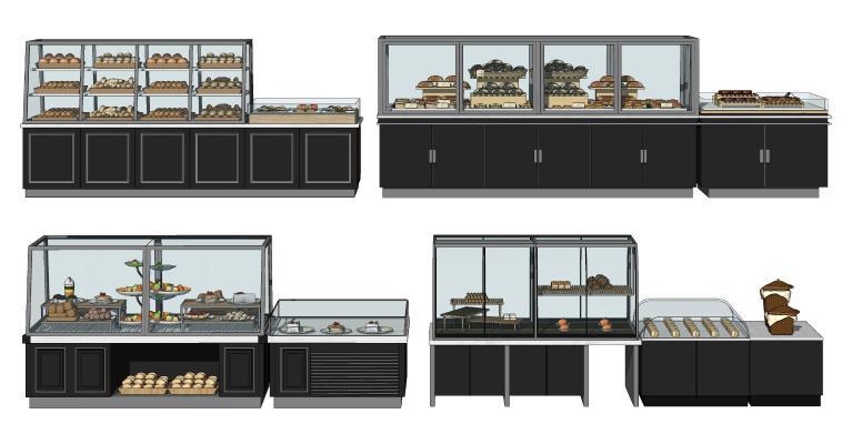 现代蛋糕展柜 面包甜品柜 烘焙柜 糕点货架 甜点展示架