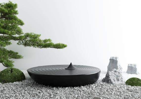 新中式庭院景ξ �^小品