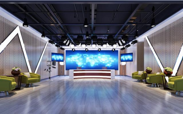 现代摄影棚 影楼设备 直播厅