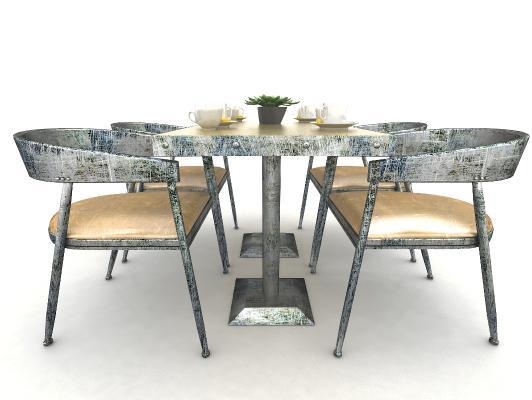 工业风格餐桌椅