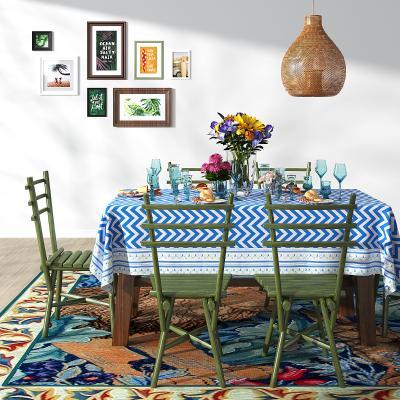 地中海餐桌椅组合