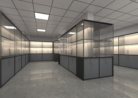 现代标本实验室 玻璃展示柜