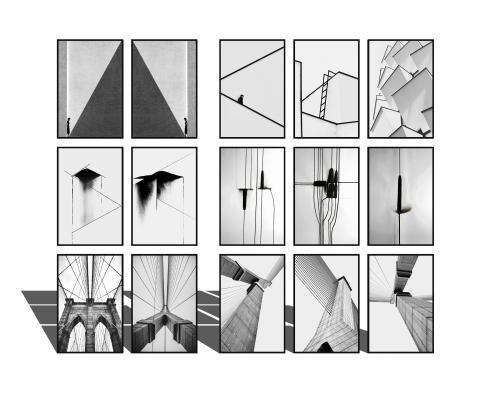 现代黑白装饰画挂画组合